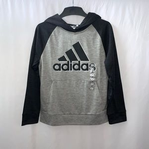 Adidas Big Boys Pullover Hoodie Sweater Size M
